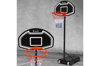 Pro Portable Basketball Stand System Hoop Height Adjustable Net Ring BK