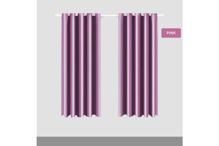 Deluxe Blockout Curtain 3 Layers Eyelet Pure Fabric Room Darkening Single Pannel  -  Purple240x230 cm
