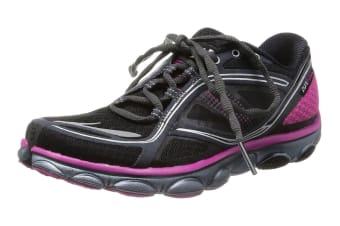 14295cf05a8e5 Brooks Women s PureFlow 3 Running Shoes (Black Fuchsia Silver)