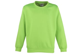 Awdis Childrens Unisex Electric Sweatshirt / Schoolwear (Pack of 2) (Electric Green) (3-4)