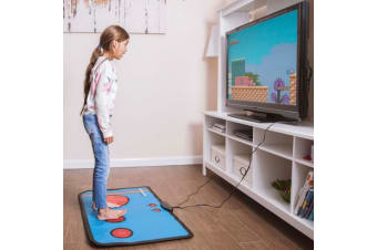 Retro 80s Gaming Floor Mat | Play 200 Built-in 8-Bit Games!