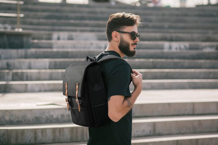 Voyager Backpack with USB Charging Port (Brown)