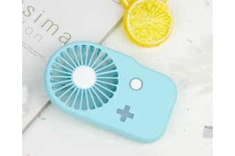 Select Mall Creative Portable Game Console Mini Fan USB Rechargeable Portable Handheld Hanging Neck Fan-White