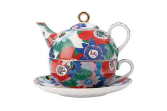 Maxwell & Williams Teas & C's 300ml Tea for One Teapot Cup Saucer Passion Vine