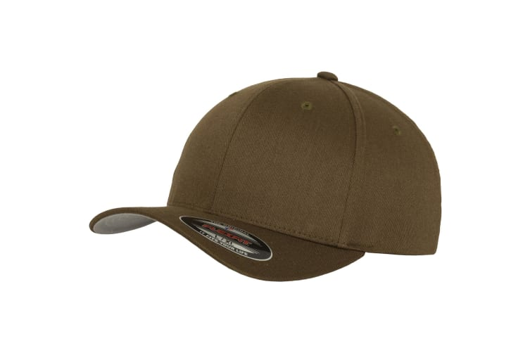 Yupoong Mens Flexfit Fitted Baseball Cap (Pack of 2) (Olive) (SM)