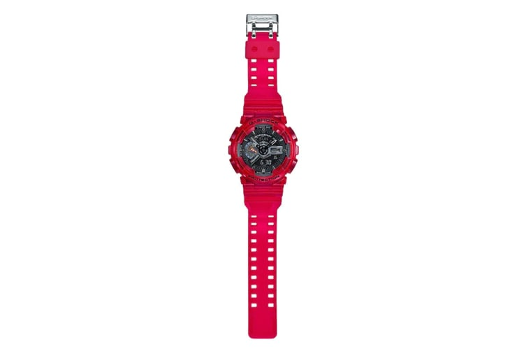 Casio G-Shock Analog Digital Duo Coral Reef Watch with Resin Band - Red/Black (GA110CR-4A)