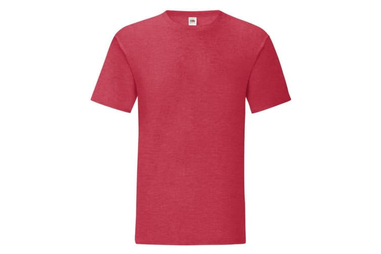 Fruit Of The Loom Mens Iconic T-Shirt (Heather Red) (XXL)