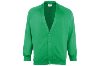 Maddins Childrens Unisex Coloursure Cardigan / Schoolwear (Emerald) (24)