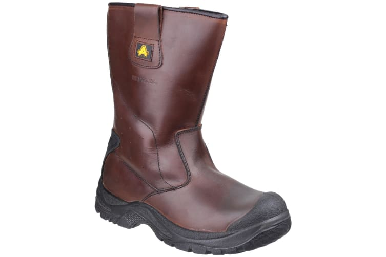 Amblers Safety Mens AS249 Cadair Waterproof Pull On Rigger Boots (Brown) (4 UK)