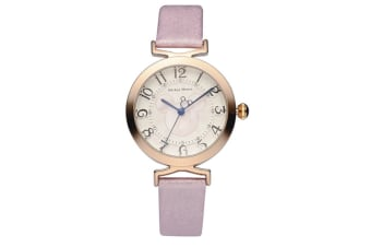 Select Mall Creative Belt Girl Watch Fashion Simple Cute Mickey Quartz Watch Stainless Steel and Leather Casual Quartz Watch-Pink