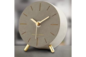 Angelo Concrete Silent Mantel Clock 11cm | One Six Eight London