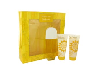 Elizabeth Arden Sunflowers Gift Set - Eau De Toilette Spray + Hydrating Cream Cleanser + Body Lotion