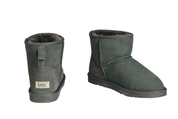 OZWEAR Connection Classic Mini Ugg Boots (Charcoal, Size 6M/7W US)