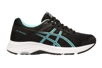 ASICS Women's Gel-Contend 5 Running Shoe (Black/Ice Mint, Size 8 US)