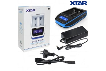 XTAR OVER 4 SLIM LiIon Charger with LCD Display