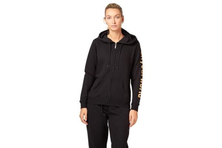 Saucony Run Your World Sleeve Zip Up Hooded Jacket (Black, Size XS)