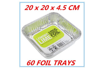 120 x Aluminum Foil Trays BBQ Disposable Roasting takeaway Oven Baking Party NO lids