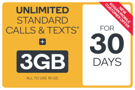 Kogan Mobile Prepaid Voucher Code: SMALL (30 Days | 3GB) - New Customers Only
