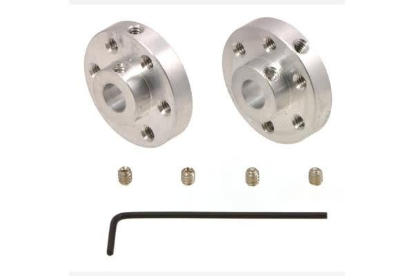 Pololu Universal Aluminum Mounting Hub for 6mm Shaft, #4-40 Holes (2-Pack)