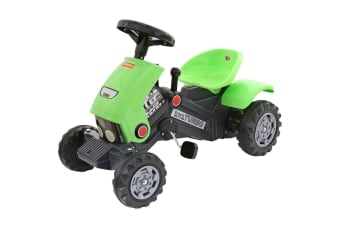 Polesie Ride-On Turbo 2 Pedal Indoor/Outdoor Tractor for Kids/Toddler Toy Green
