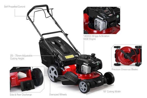 "Certa 18"" Briggs & Stratton Self Propelled Lawn Mower"