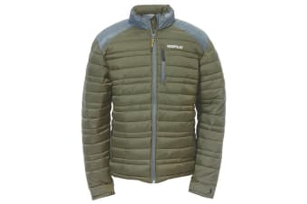 Caterpillar Mens Defender Insulated Zip Up Jacket (Army Moss)