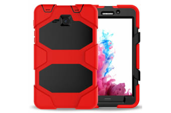For Samsung Galaxy Tab A A6 10.1'' T580/T585 Shockproof Hybrid Tablet Case Cover--Red