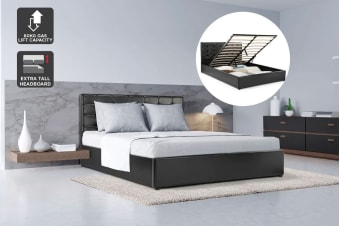 Shangri-La Bed Frame - Atrani Gas Lift Collection (Black)
