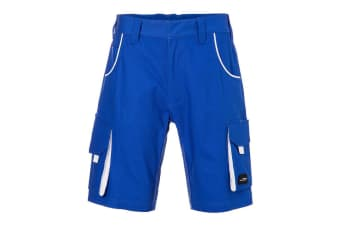 James and Nicholson Unisex Workwear Bermudas Level 2 (Royal Blue/White) (29R)