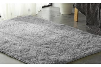 New Designer Shag Shaggy Floor Grey Confetti Rug Carpet 80x120cm Fast Delivery  -  Grey
