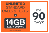 Kogan Mobile Prepaid Voucher Code: EXTRA LARGE (90 Days | 14GB Per 30 Days)