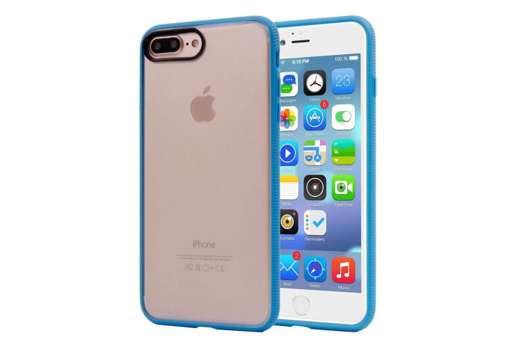 For iPhone 8 PLUS 7 PLUS Case Stylish Frosted Guard Protective Cover Blue