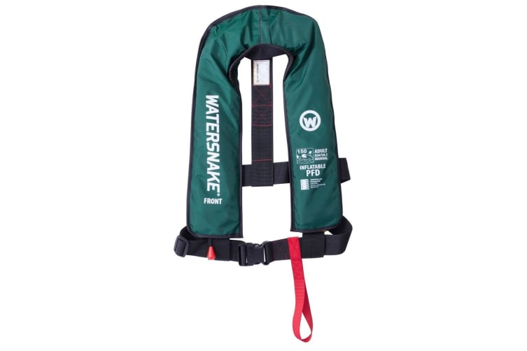Green Watersnake Manual Inflatable PFD - Level 150 Adult Life Jacket