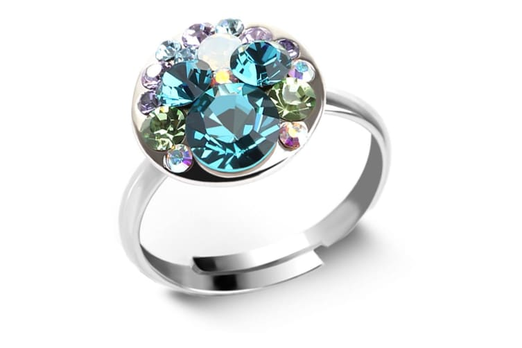 Mystic Moon Ring Crystal Embellished with Swarovski crystals  Size US 8