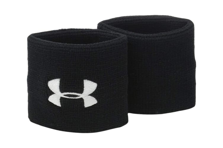Under Armour Performance Wristbands (Black/White)