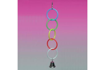 Plastic Olympic Rings with Bell Bird Toy