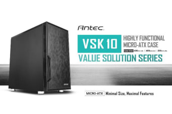Antec VSK10 mATX Case. 2x USB 3.0 Thermally Advanced Builder's Case. 1x 120mm