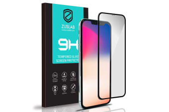 """ZUSLAB iPhone 11 Pro Max / iPhone XS Max 6.5"""" Tempered Glass Screen Protector Case Friendly 9H Hardness for Apple"""