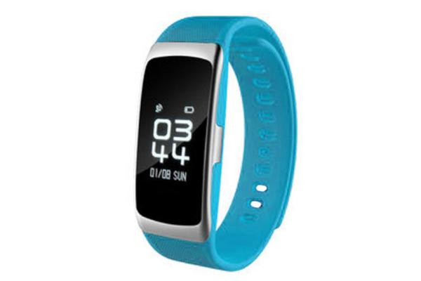 """Bluetooth V4.0 Fitness Band Heart Rate Blood Oxygen Ip68 0.73"""" Pmoled - Blue"""