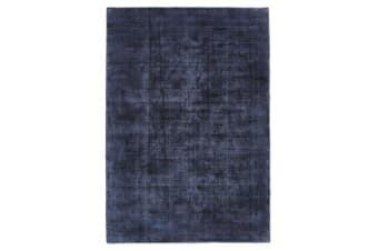 Luxe Modern Distressed Rug Navy