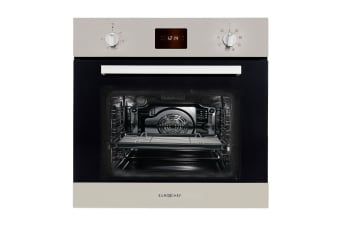 EuroChef 80L Oven Wall Built in Electric Baking Stainless Steel 8 Function