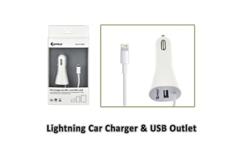 Sansai Lightning Car Charger and USB Outlet for other phones