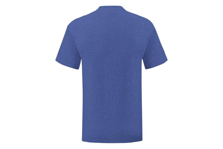 Fruit Of The Loom Mens Iconic T-Shirt (Heather Royal) (L)