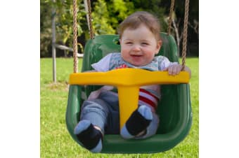 Baby Swing Seat with Rope Extension in Green