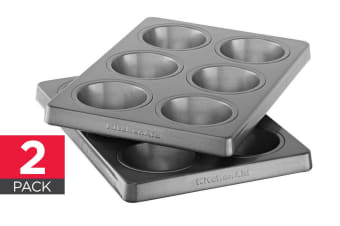 2-Pack KitchenAid Professional-Grade Nonstick 6 Cavity Muffin Pan - Regular (KBNSS06MF)