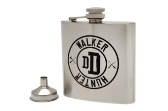 The Walking Dead Stainless Steel Hip Flask (Silver)