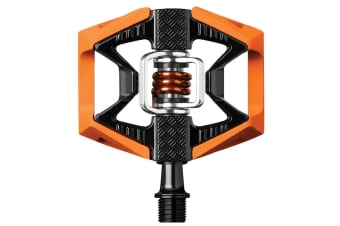 Crank Brothers Double Shot 2 Pedals Orange/Black Orange Spring