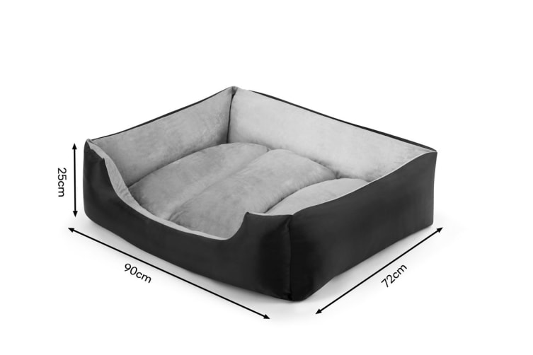 Pawever Pets Deluxe Fleece Dog Bed (Large)