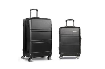 20inch and 28inch Lightweight Hard Suit Case (Black)