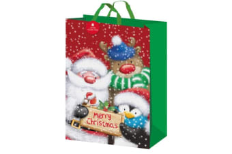 I G Design Traditional Christmas Gift Bag (Multicoloured) (One Size)